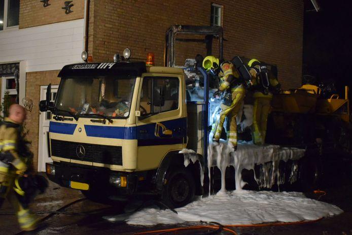 Door het snelle optreden van de brandweer werd erger voorkomen.
