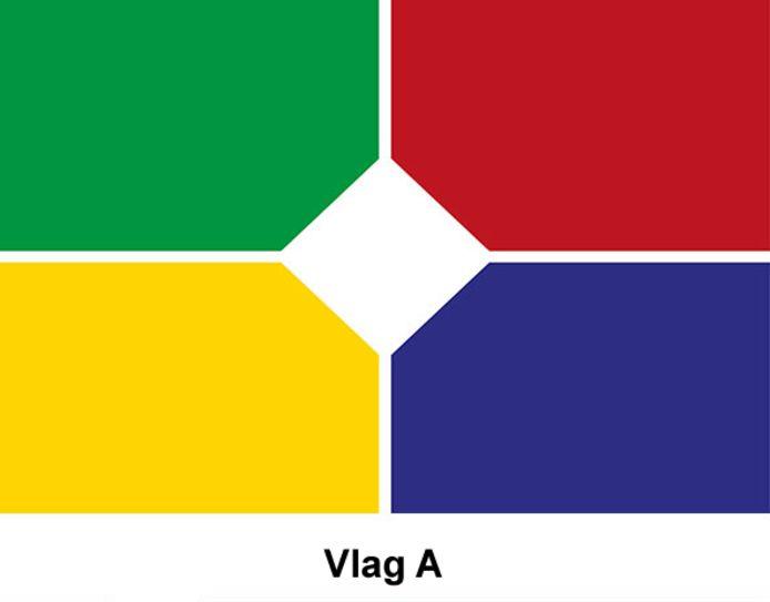 Vlag A. De ontwerper heeft gekozen voor 'de veelkleurigheid van de Liemers'. Groen staat voor landschap en natuur en blauw voor de rivieren Rijn en IJssel. Geel staat voor plezier en geluk wat terug te vinden is in het rijke verenigingsleven van de Liemers. Rood is passie en wit staat voor stilte en rust.
