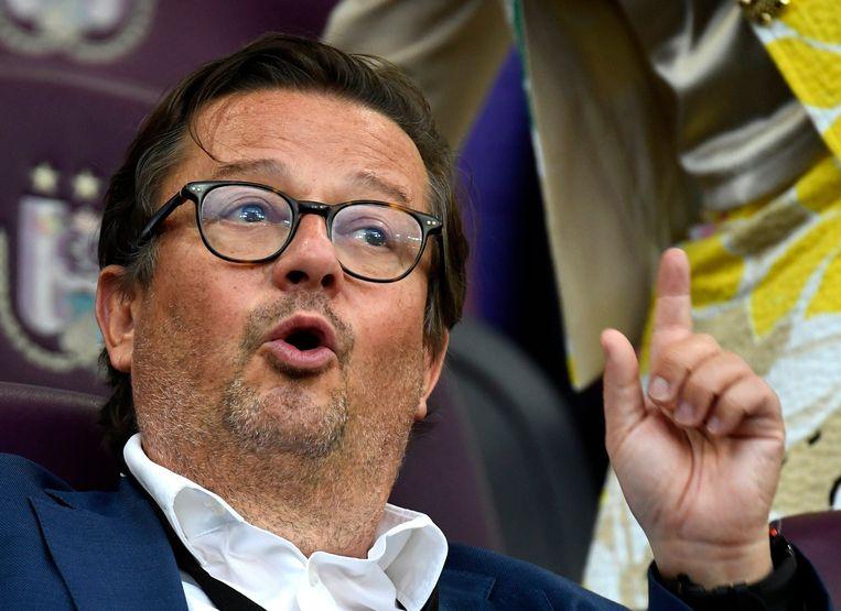 Marc Coucke, inmiddels voorzitter van Anderlecht, heeft KVO belast met schuldvorderingen en dure contracten. Beeld Photo News