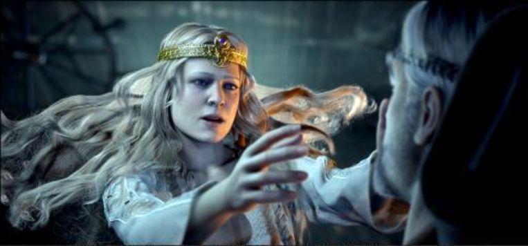 Dankzij speciale projectoren kunnen in bioscopen films zoals Beowulf in 3D worden vertoond. Beeld UNKNOWN