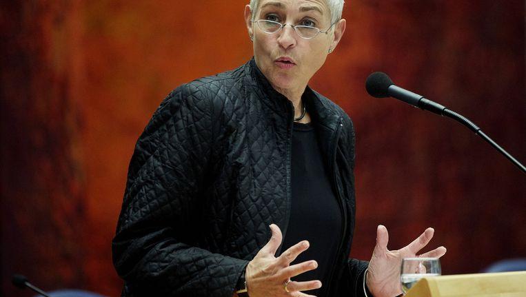 Archieffoto: staatssecretaris Wilma Mansveld achter de katheder Beeld anp