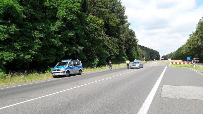 Duitse grens afgesloten