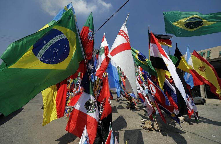 32 landen zullen met elkaar concurreren op het WK in Rusland. Beeld AFP