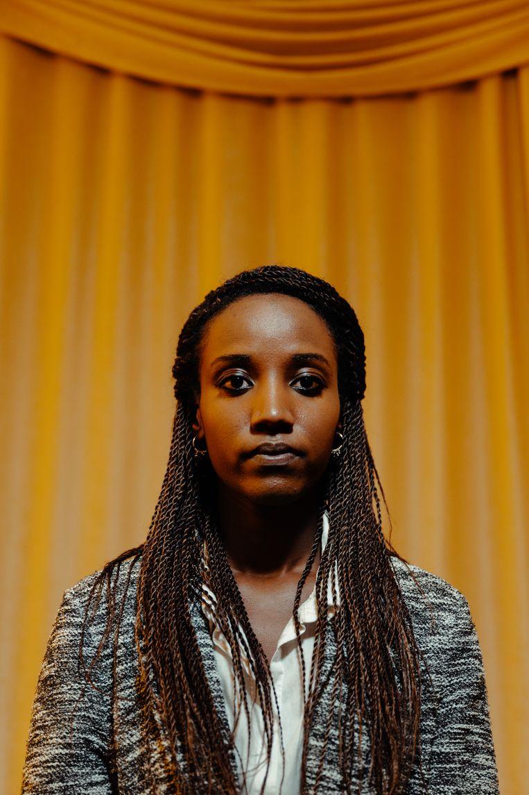 Carine Kanimba: 'Mijn vader is al jaren pleitbezorger van verzoening en van een vredevolle machtsoverdracht.' Beeld Damon De Backer