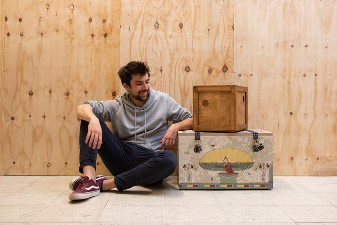 Jonas Douchy van de Mechelse start-up Escape-Boxes met 'The Mummy's Mystery'