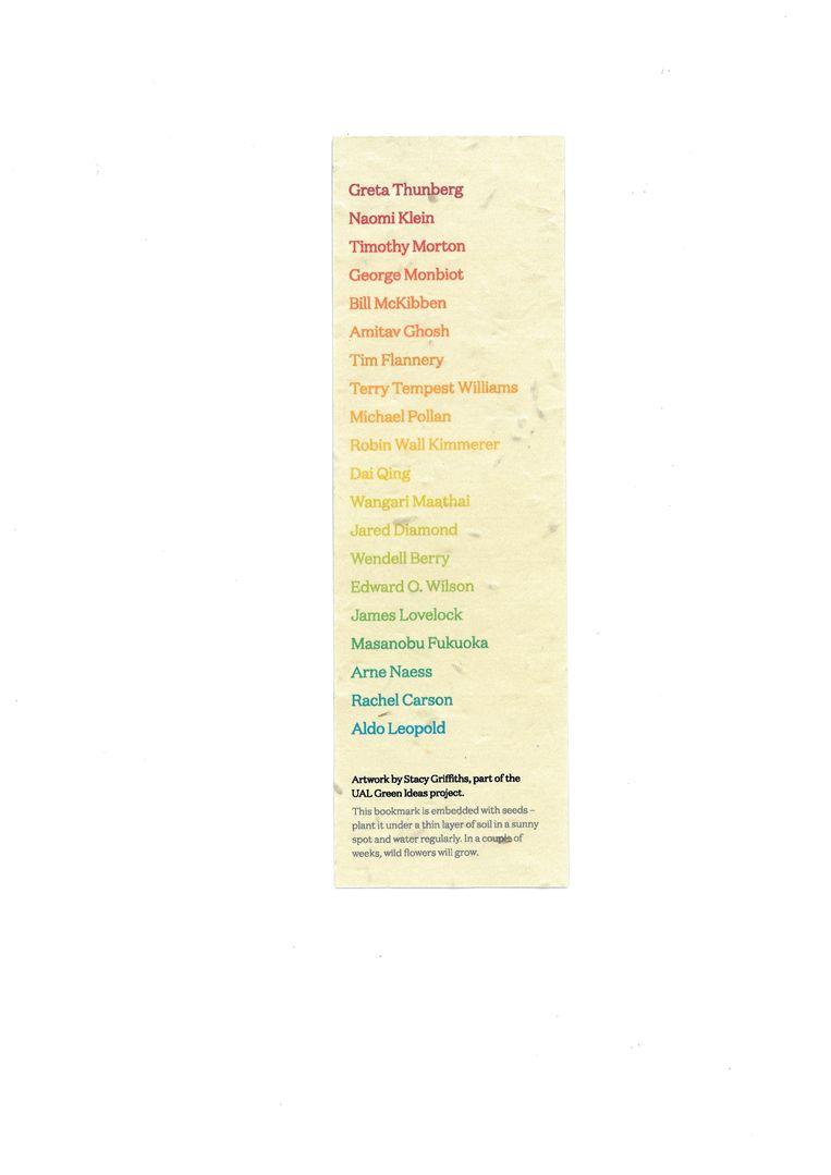 Boekenlegger Green Ideas, ontwerp Tom Etherington. Beeld Penguin