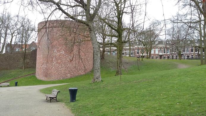 Eén van de twee waltorens in het Kronenburgerpark.