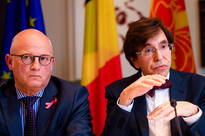 Jean-Luc Crucke et Elio Di Rupo (archives 2019).