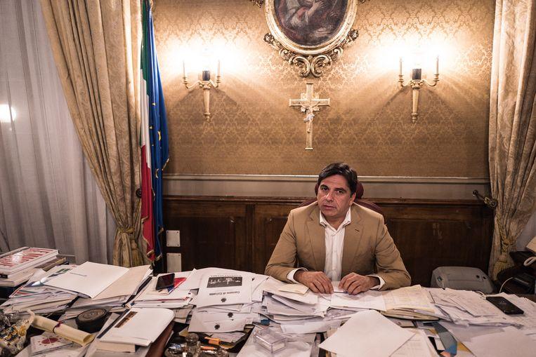 Salvo Pogliese, de burgemeester. Beeld Nicola Zolin