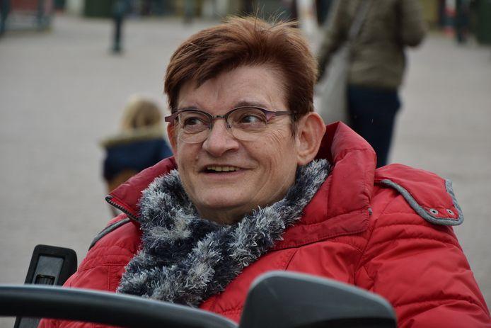 Mia Vervoort, op haar 68ste, een jaar voor haar overlijden.