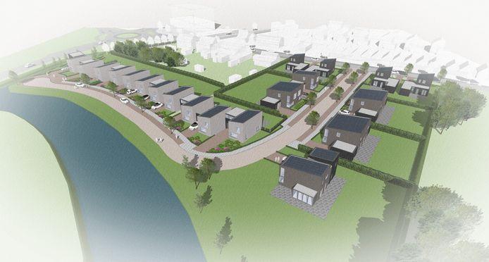 Impressie van het bouwplan Veerseweg in Middelburg