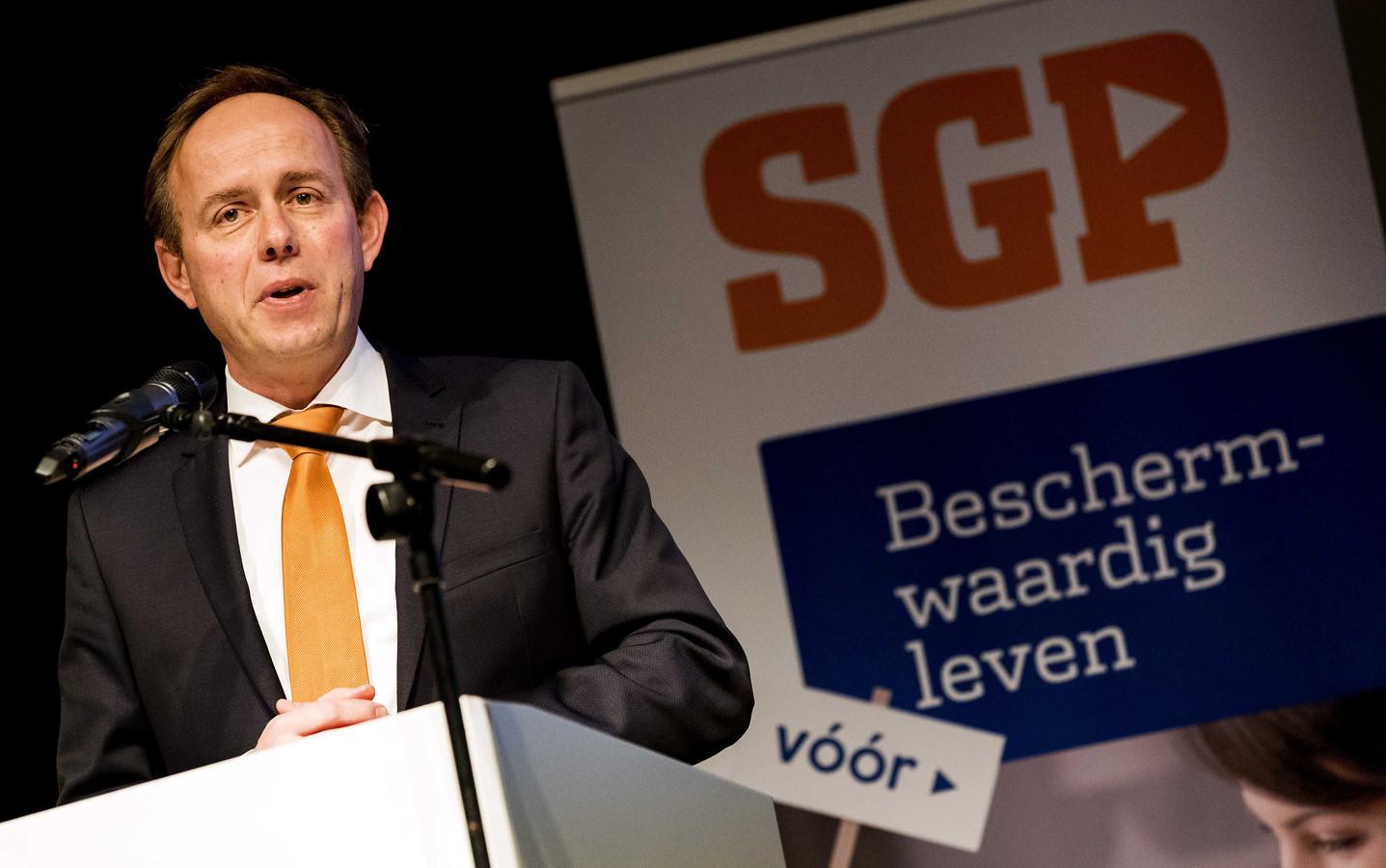 Lijsttrekker en fractievoorzitter Kees van der Staaij.