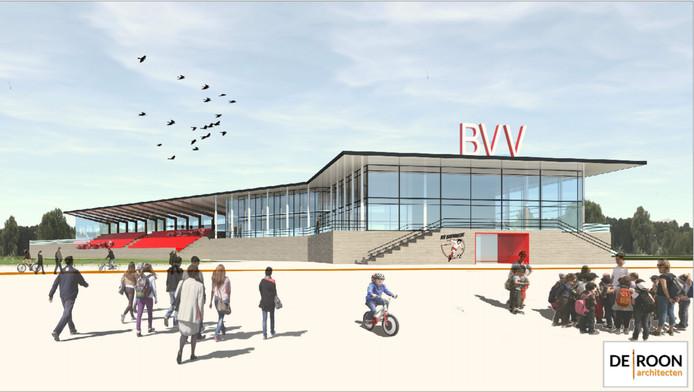 Een impressie van het nieuwe clubhuis van BVV Barendrecht.