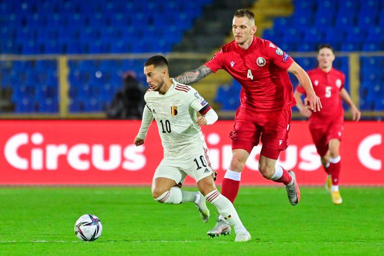 Eden Hazard krijgt een halfuur om zich te tonen in Kazan. Beeld Photo News