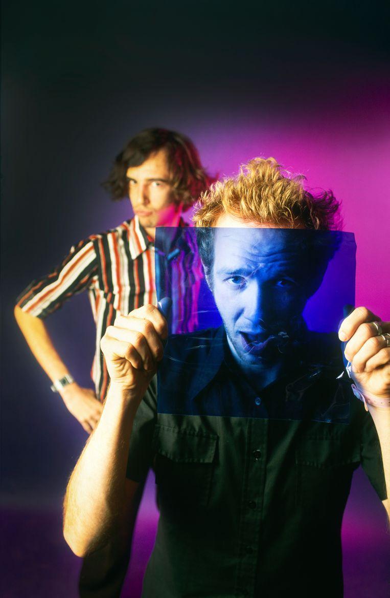 Stephen en David Dewaele van Soulwax in 2000.  Beeld gie Knaeps