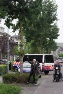Politie in actie in Wageningen.