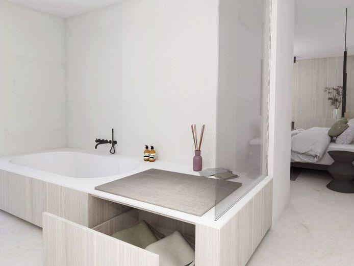 """""""Mensen onderschatten vaak hoeveel spullen ze moeten opbergen in hun badkamer"""", zegt Bart Appeltans."""