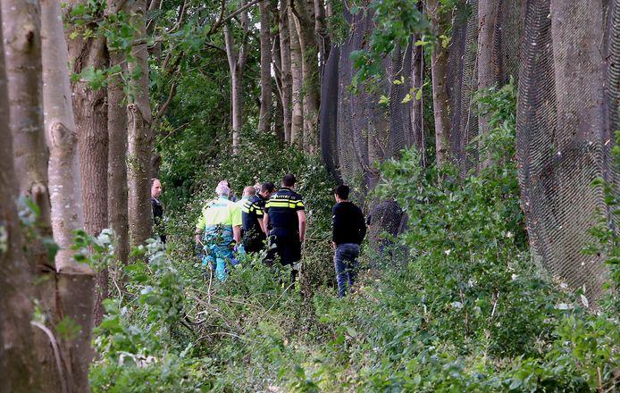 In een groenstrook op het terrein van de golfbaan in Kerkdriel kreeg een man dinsdagmiddag een tak op zijn hoofd.