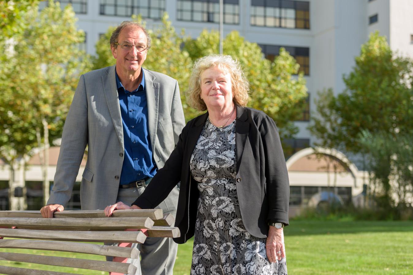 Peter Notten en Jeanny van den Berg vormden vorig jaar samen de directie van WIJeindhoven (archieffoto).