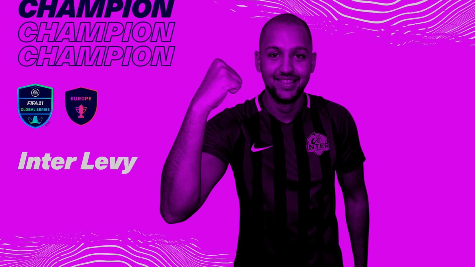 Levy Frederique is Europees Kampioen FIFA 21 op de Xbox geworden. De Nederlander die uitkomt voor de Italiaanse club Inter Milan wint daarmee 100.000 dollar.