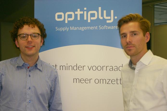 De oprichters van Optiply, Sander van den Broek (l) en Wiebe Konter.