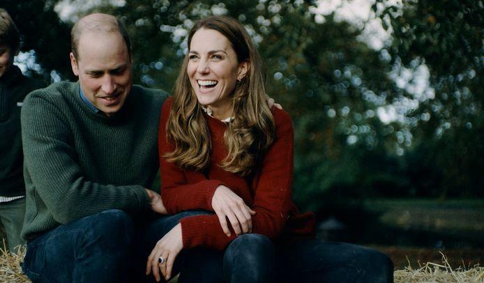 Een beeld uit het filmpje dat Kate en William online plaatsten.