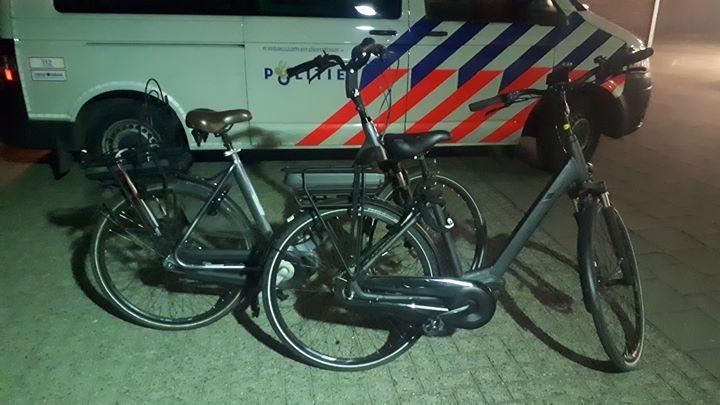 De elektrische fietsen.