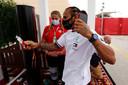 Wereldkampioen Lewis Hamilton in Bahrein