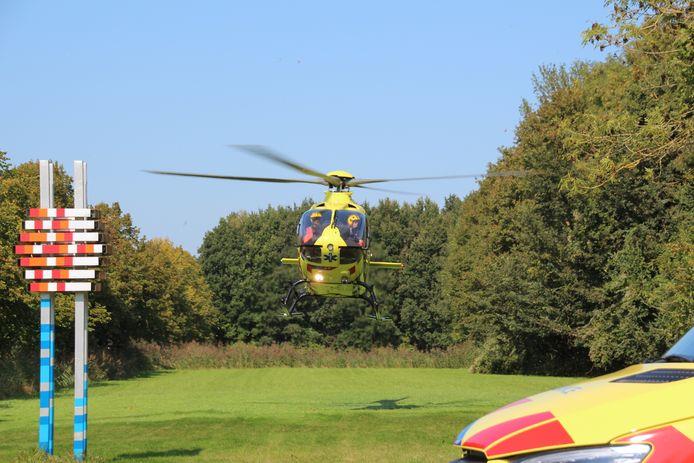 De traumahelikopter.
