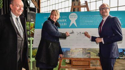 36 partners ondertekenen charter voor ontwikkelen Rivierpark