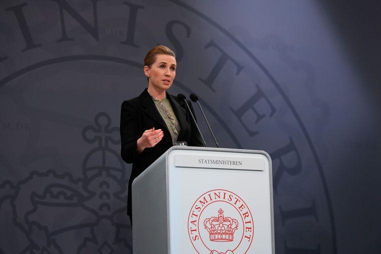 Ook Denemarken is van plan de maatregelen te versoepelen, aldus premier Mette Frederiksen maandag. Beeld EPA