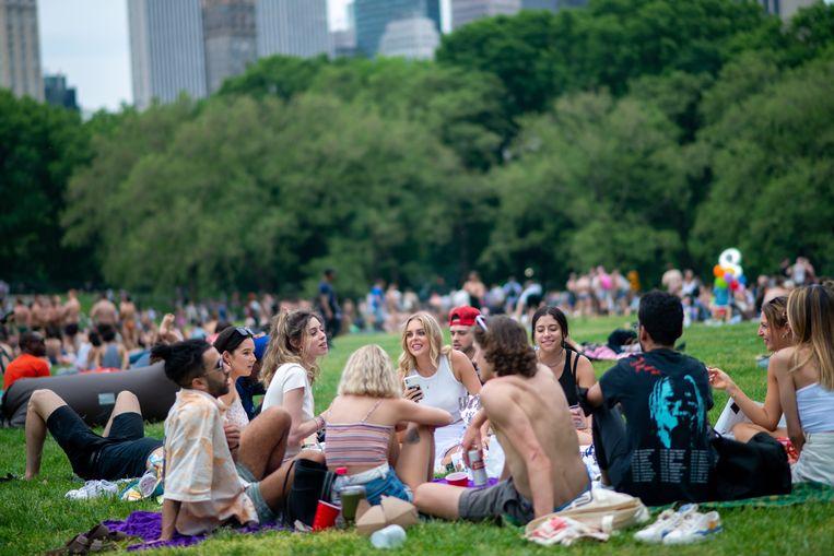 Central Park, zaterdag 22 mei. Beeld Alexi Rosenfeld / Getty