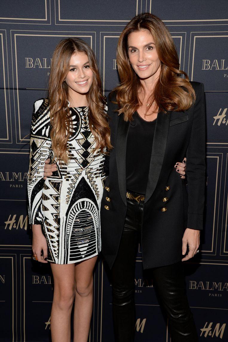 Cindy Crawford met haar dochter Kaia Gerber.