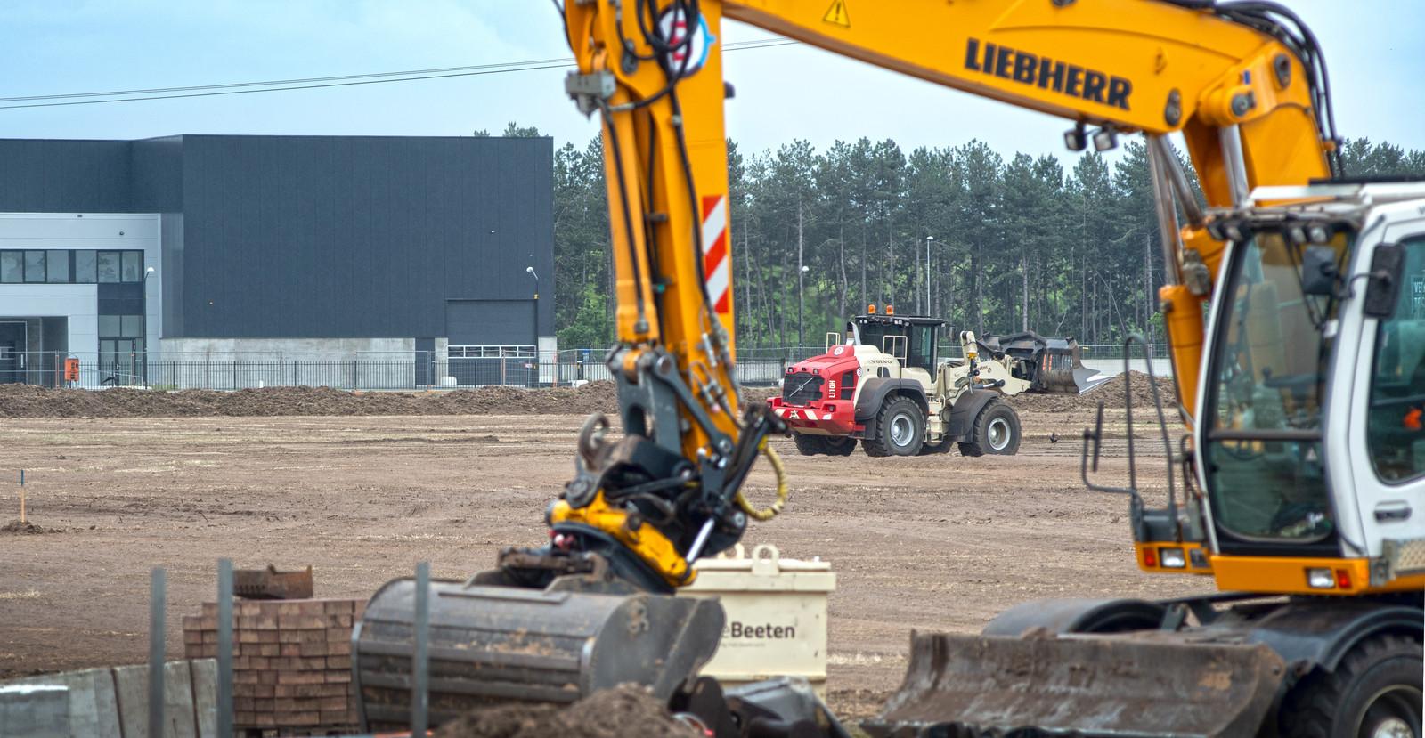 Bouwwerkzaamheden op Vorstengrafdonk in Oss.