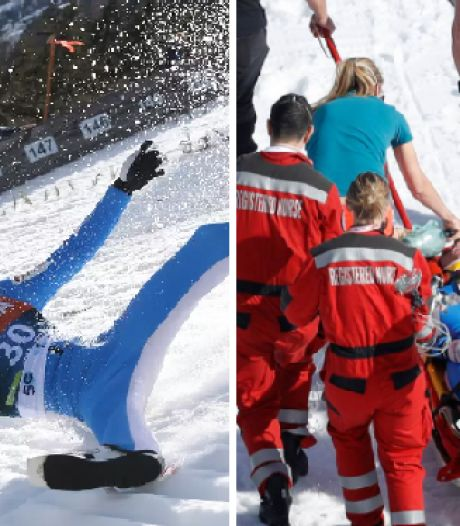 """Le monde du ski pousse un ouf de soulagement: un sauteur à ski """"réveillé"""" après une horrible chute"""