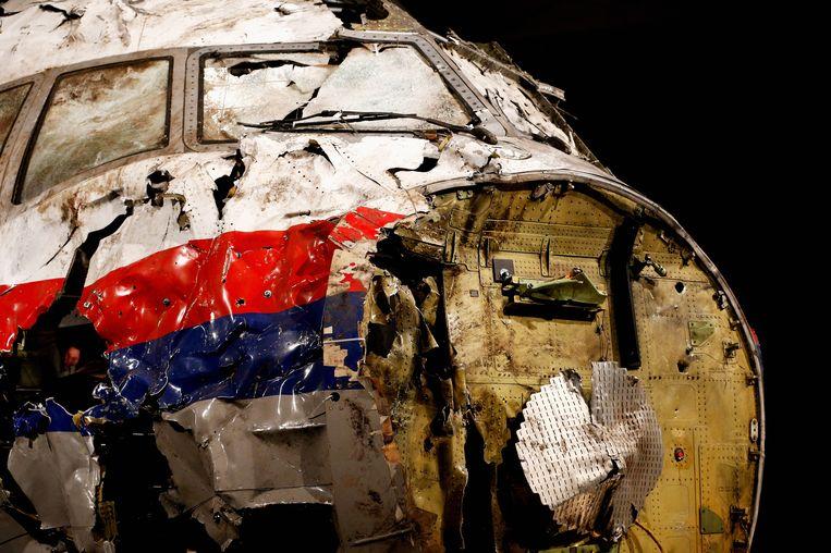 Het wrak van MH17. Beeld getty