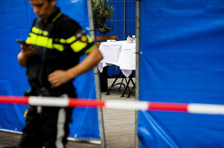 Beeld uit 2018: politielinten nabij de locatie waar Ivan Serdarusic werd doodgeschoten.  Beeld Remko de Waal / ANP