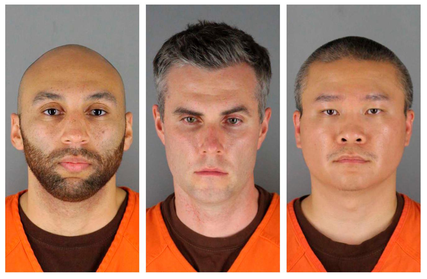 De drie verdachte ex-politieagenten.