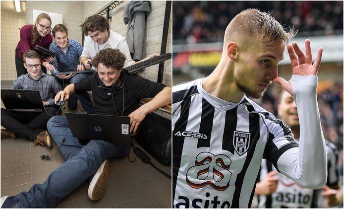 Links: het Esports Team Twente gaat samenwerken met de Koninklijke Marine. Rechts: Sylvester van de Water verlaat Heracles voor Orlando City FC.