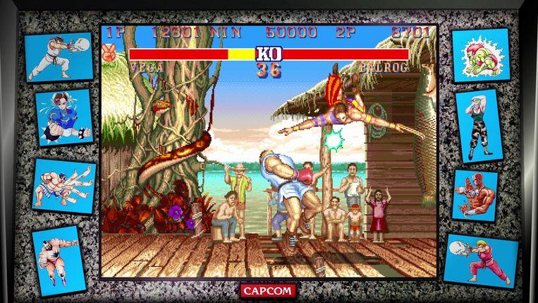 'Street Fighter II' spelen wordt, ondanks het feit dat de game al langer dan een kwarteeuw bestaat, nooit belegen. Beeld Capcom