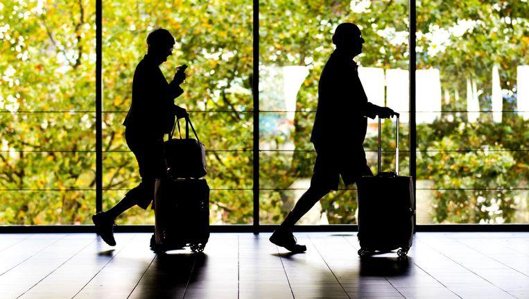 Reizigers op Schiphol Beeld anp