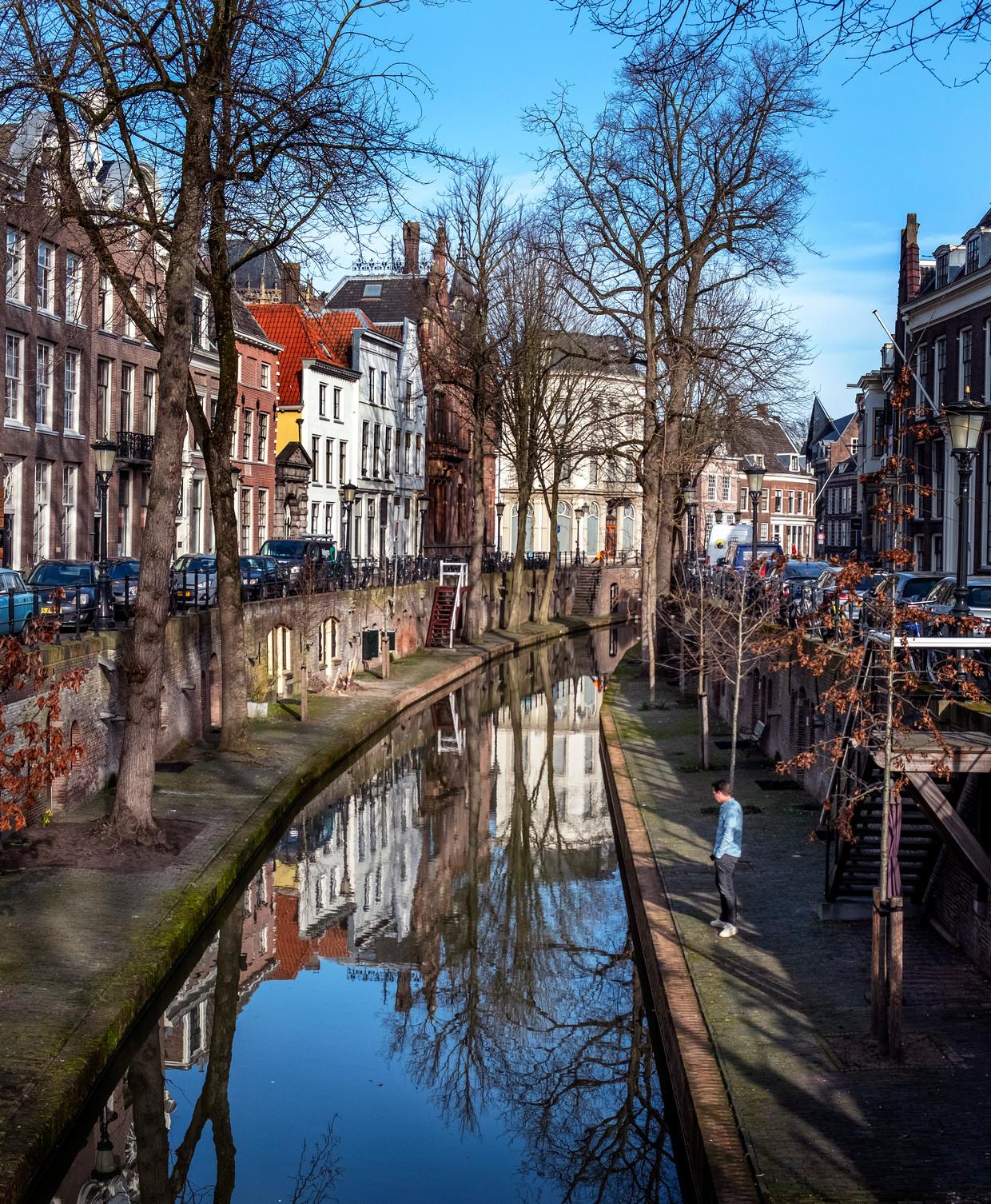 Het oude centrum van Utrecht.  Beeld Raymond rutting / De Volkskrant