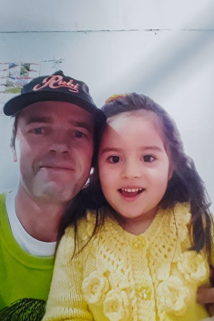 Gert met zijn dochtertje Rubi