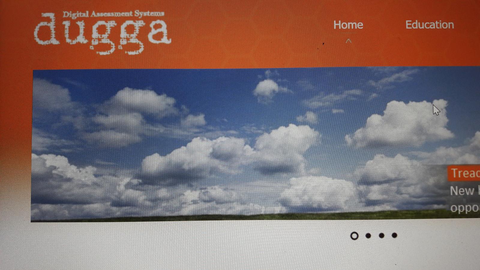 Website van het Zweedse bedrijf Dugga (Digital Assessment Systems)