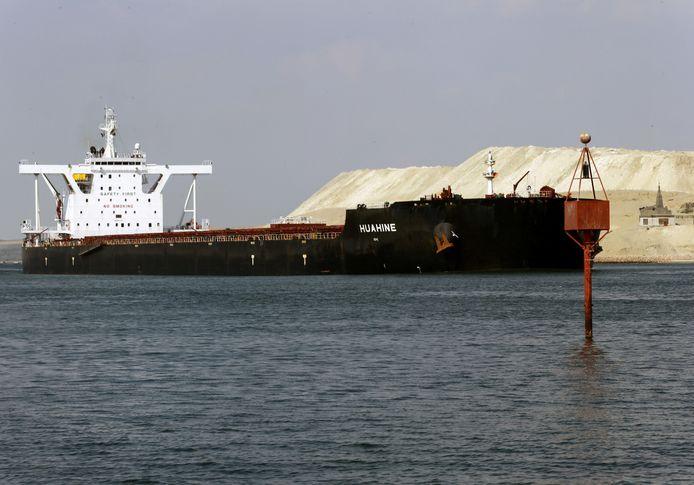 Le canal de Suez, le 30 mars dernier.