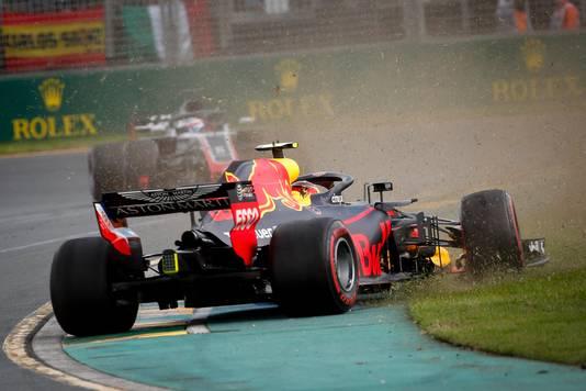 Max Verstappen tijdens de Grand Prix in 2018.