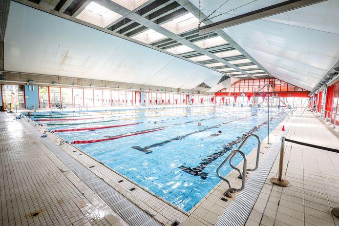 Het oude zwembad van Oostende