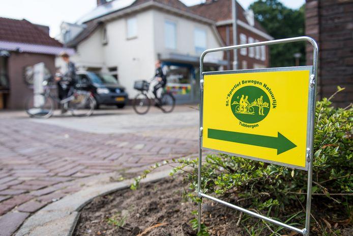 Routebordje van de Fiets4Daagse Tubbergen.