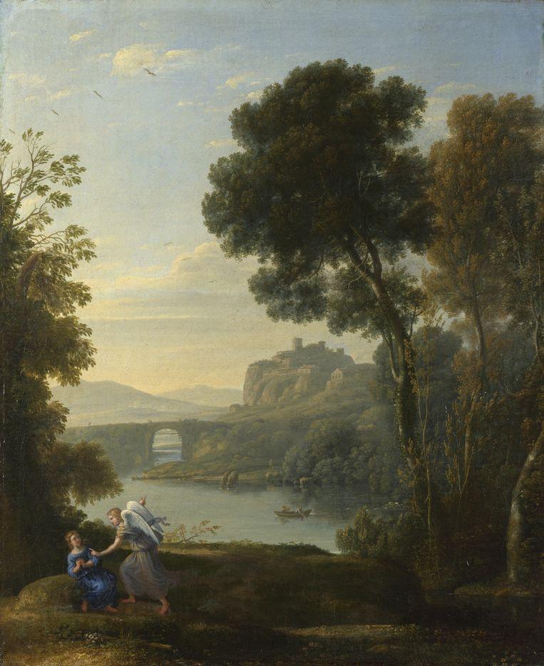 Claude Lorrain, Landschap met Hagar en de engel (1646). Beeld Getty