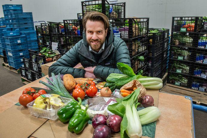 Door corona 'explodeerde' de omzet van Boerschappen, het bedrijf van Stijn Markusse in Breda dat voedselboxen met lokale en duurzame producten van de boer direct aan de klant levert.